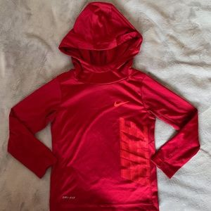 Red Nike Dri-Fit Pullover
